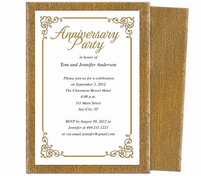 50th Anniversary Invitations Templates New Wedding Anniversary Party Templates Laurel Wedding