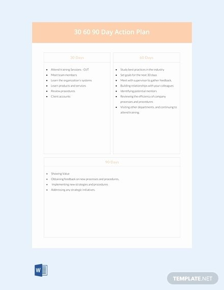90 Day Onboarding Plan Template Best Of 18 Boarding 30 60 90 Day Plan Examples Pdf Word