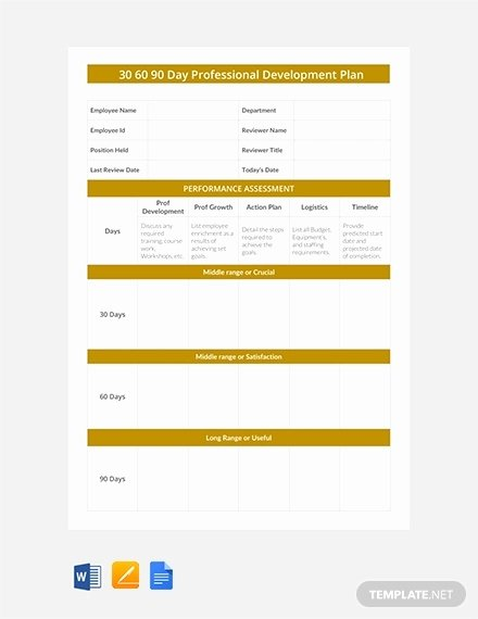 90 Day Onboarding Plan Template Luxury 18 Boarding 30 60 90 Day Plan Examples Pdf Word