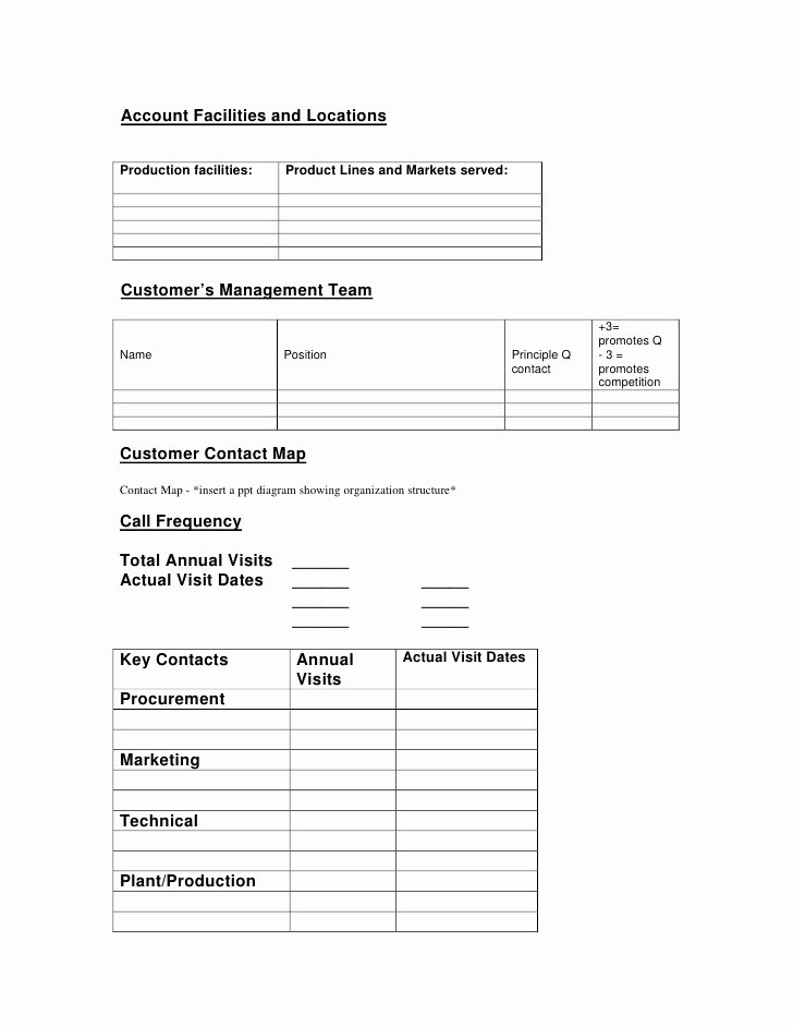 Account Management Plan Template Inspirational Key Account Management Plan