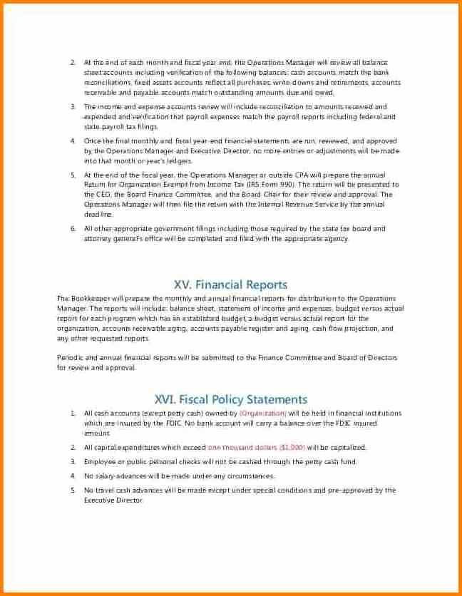 Accounting Policies and Procedures Template Elegant 6 Payroll Policy and Procedure Template