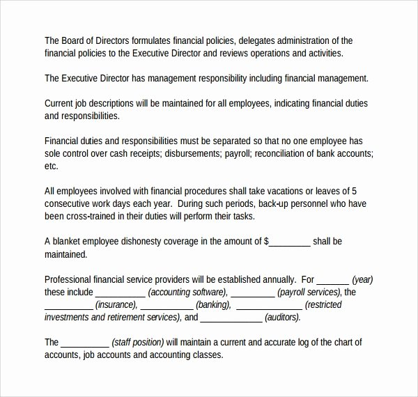 Accounting Policies and Procedures Template Fresh Sample Accounting Manual Template 6 Free Documents In