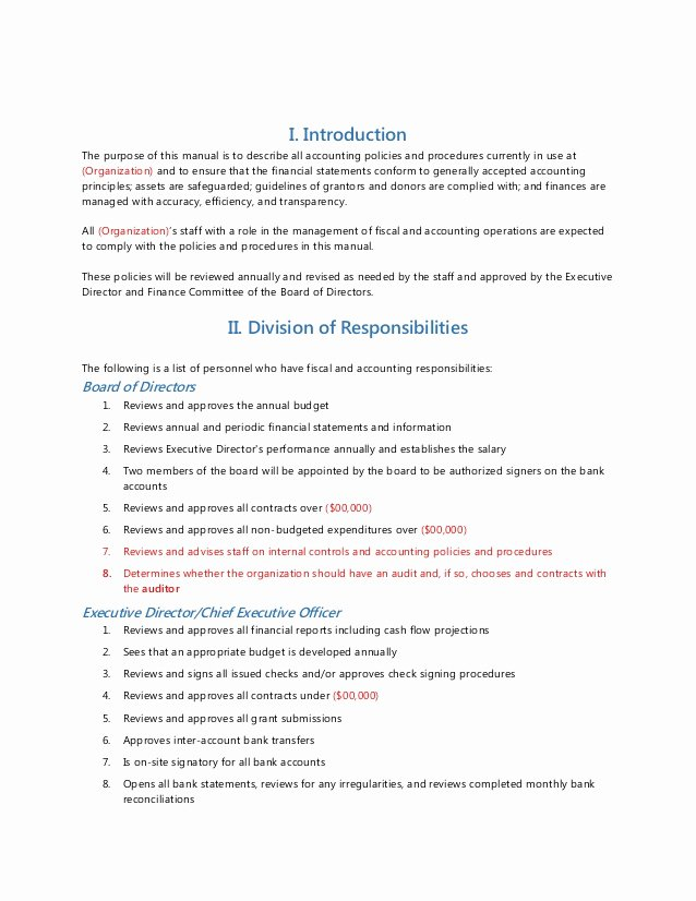 Accounting Policies and Procedures Template Luxury Accounting Journal Template Pinster