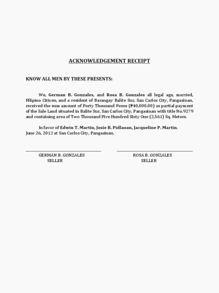 Acknowledgement Of Receipt form Template Fresh Affidavit Receipt