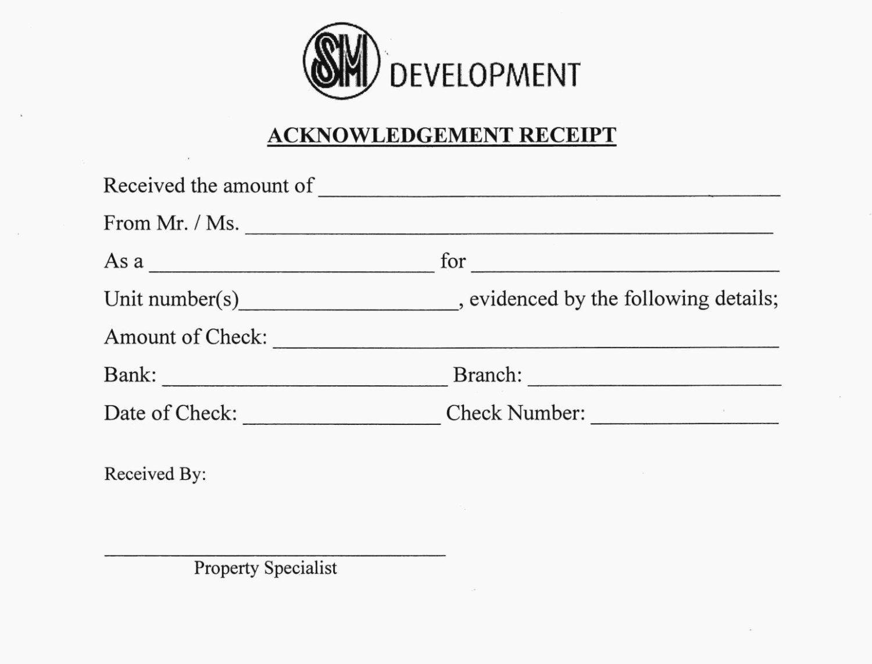 Acknowledgement Of Receipt form Template Inspirational Five Advantages