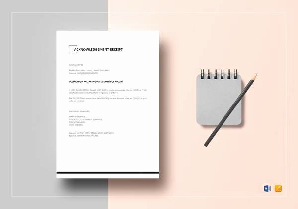 Acknowledgement Of Receipt form Template New Acknowledgement Receipt Sample 18 Examples In Word Pdf