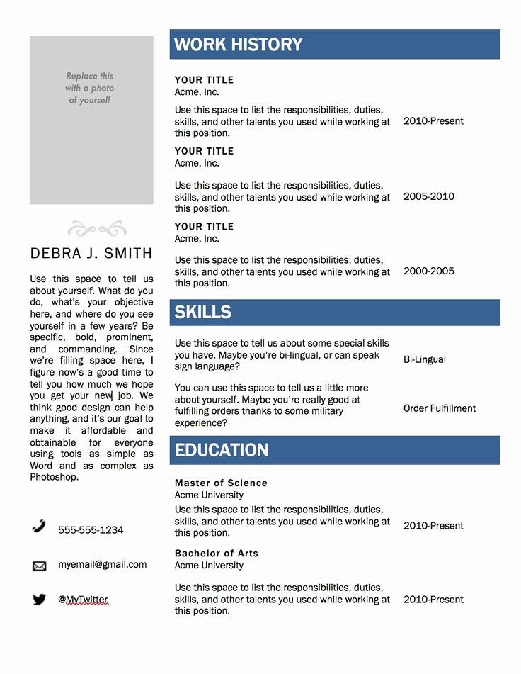 Acting Resume Template Word Lovely Best 20 Sample Resume Ideas On Pinterest