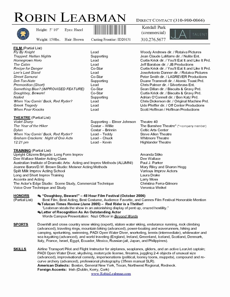 Acting Resume Template Word Luxury Latest Resume format Desember 2014