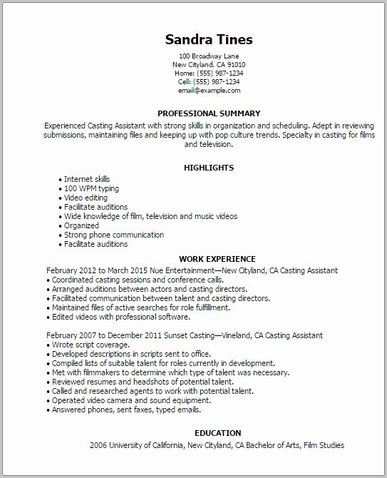 Acting Resume Template Word Unique Acting Resume Template for Mac Resume Resume Examples