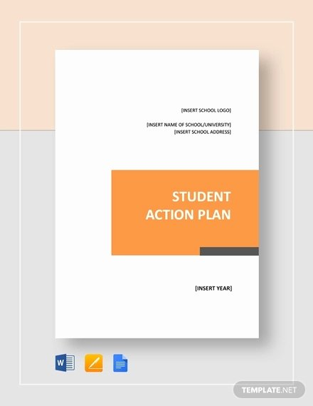 Action Plan Template for Students Beautiful Student Action Plan Template 9 Free Word Pdf format
