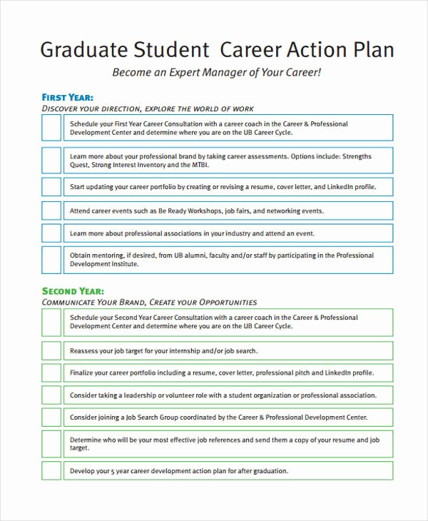 Action Plan Template for Students Best Of 8 Student Action Plan Templates Free Sample Example