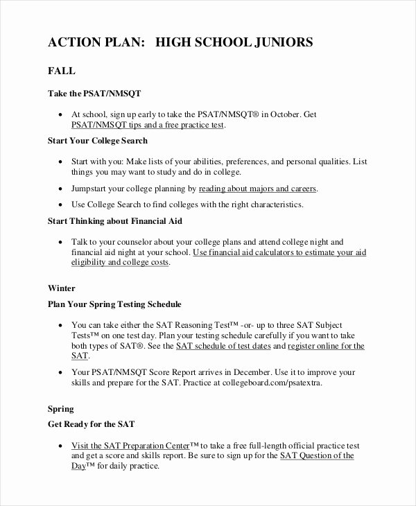 Action Plan Template for Students Elegant Student Action Plan Template 9 Free Word Pdf format