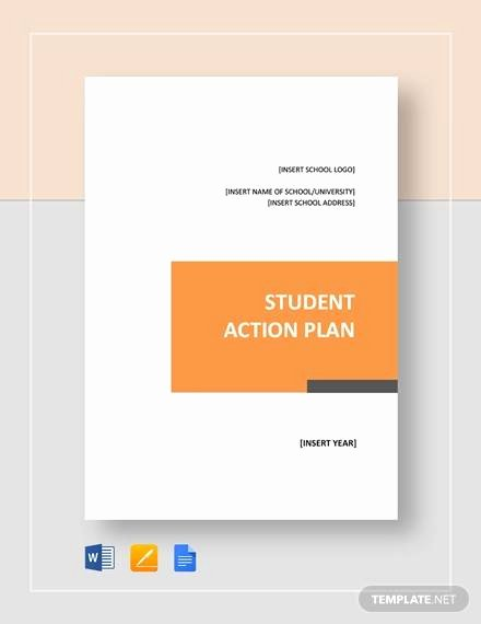 Action Plan Template for Students Inspirational Sample Student Action Plan 7 Documents In Pdf