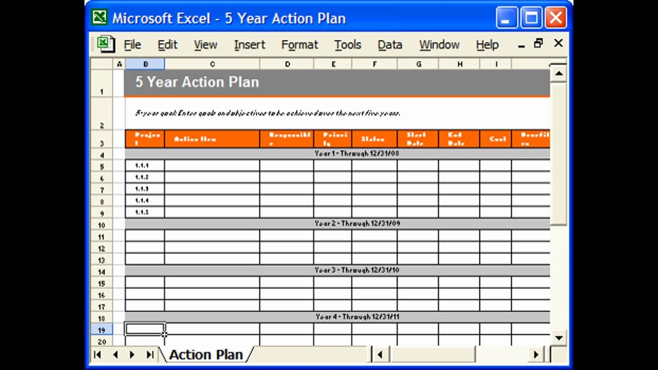 Action Plan Templates Excel Awesome Action Plan Template Excel