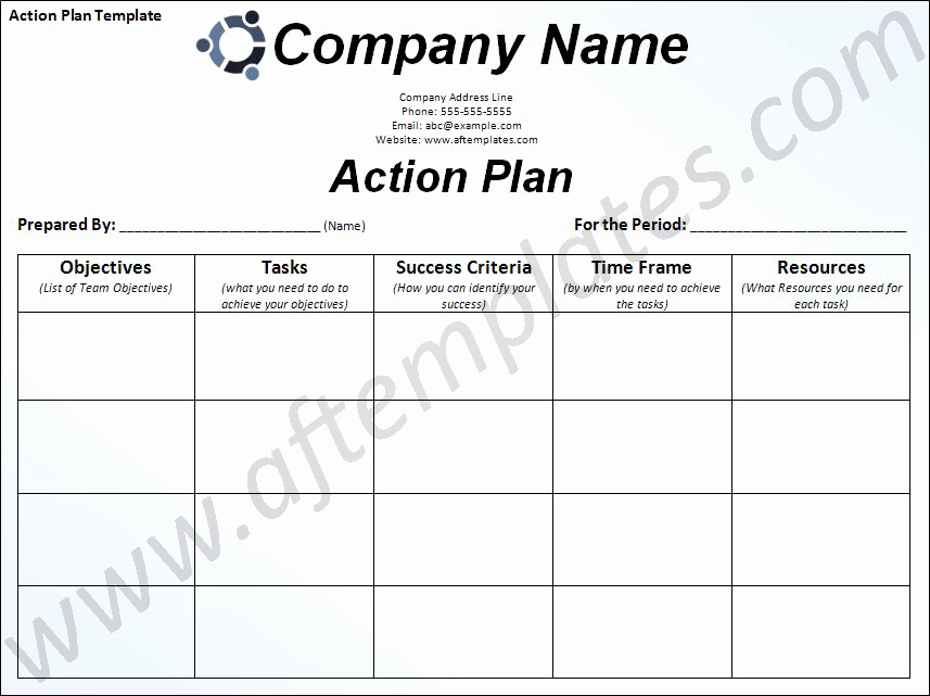 Action Plan Templates Excel Awesome Action Plan Template