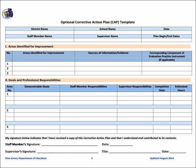 Action Plan Templates Excel Beautiful Corrective Action Plan Template 22 Free Word Excel