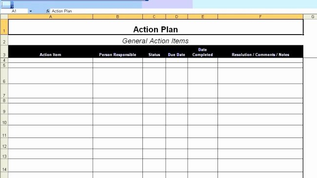 Action Plan Templates Excel Beautiful Excellent Action Plan Template Example In Ms Excel format