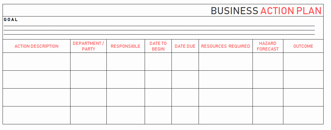 Action Plan Templates Excel Best Of Action Plan Templates – Free Templates [word