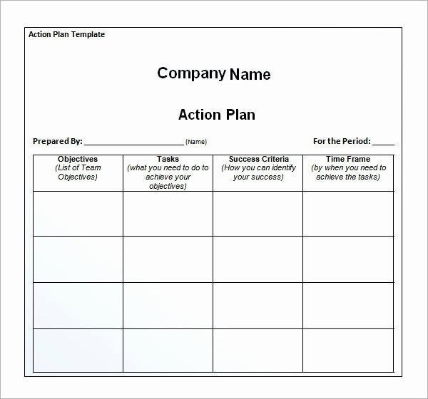 Action Plan Templates Excel Inspirational Sample Action Plan Template 9 Free Documents In Pdf