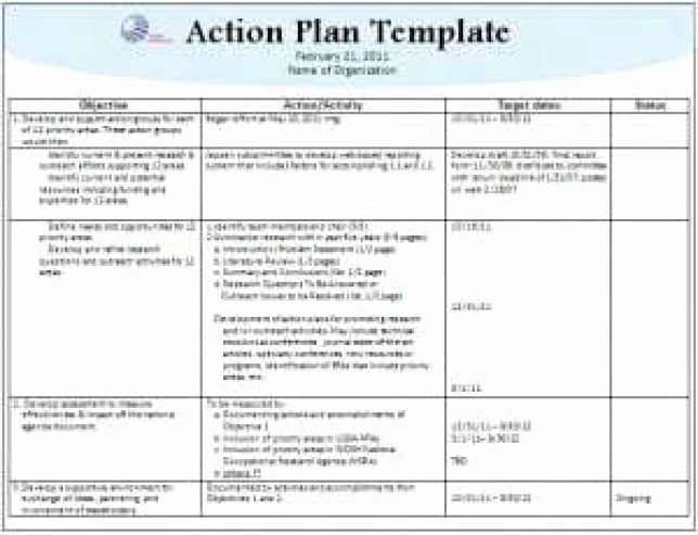 Action Plan Templates Excel New 8 Action Plan Templates Excel Pdf formats