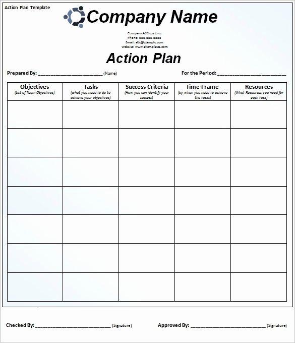 Action Plan Templates Excel Unique Plan Action Template