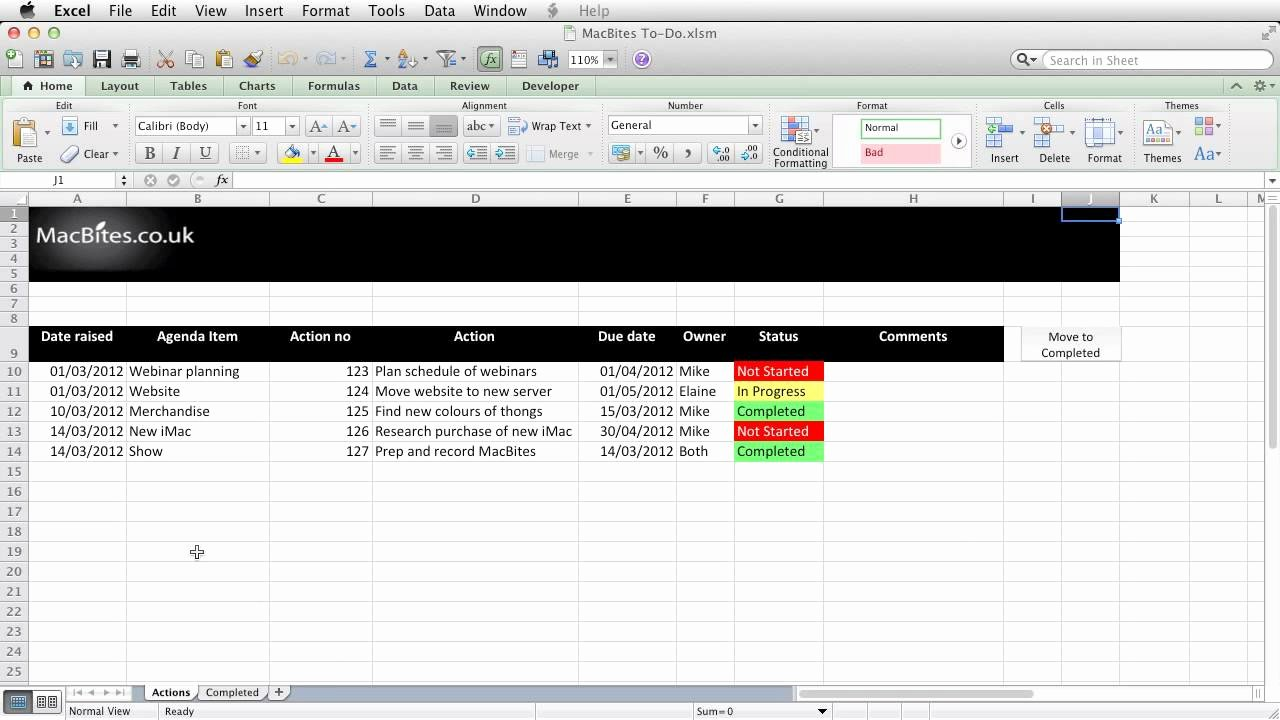 Action Planning Template Excel Beautiful Excel An Automated Action Tracker