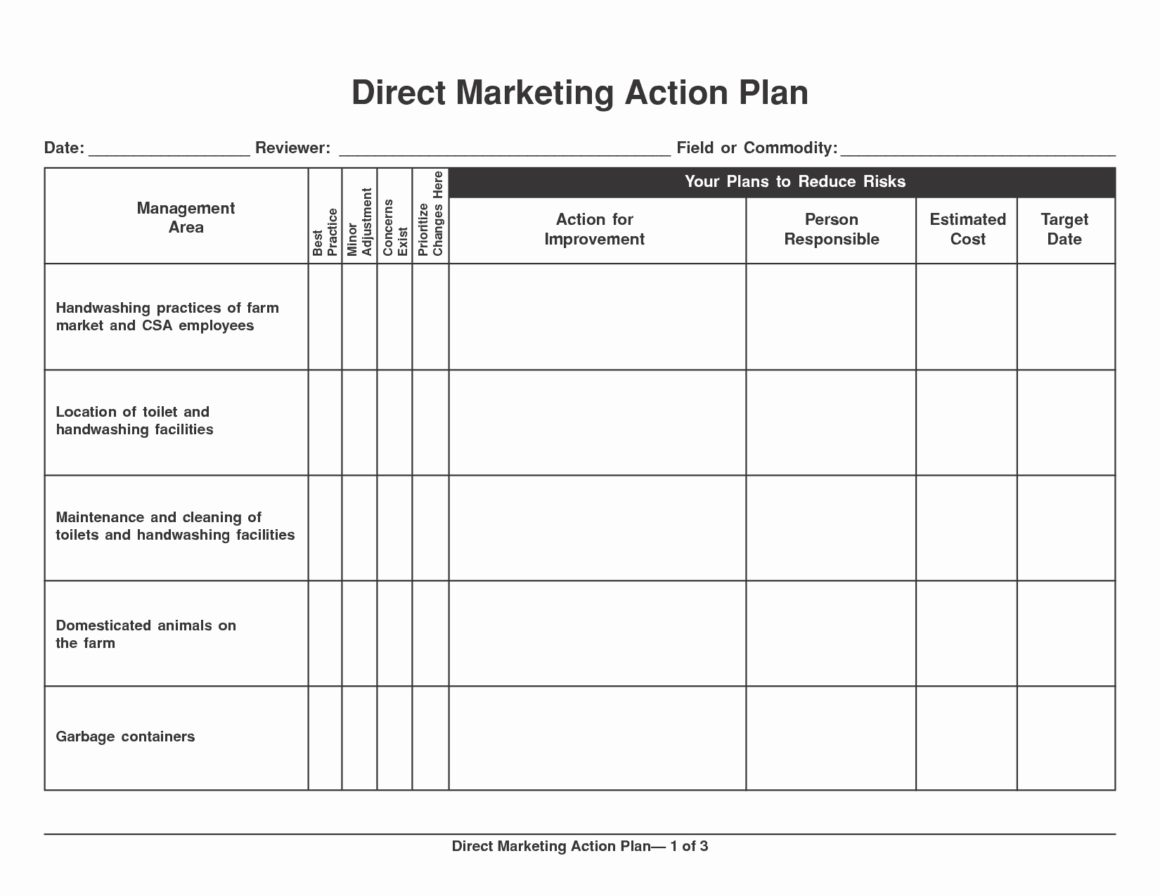 Action Planning Template Excel Inspirational 6 Marketing Action Plan Templates Excel Website