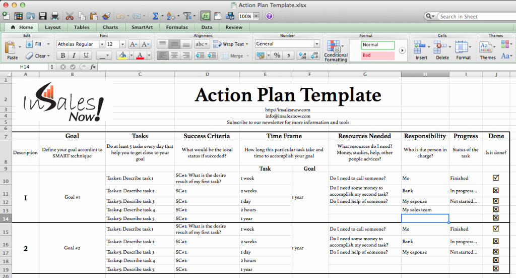 Action Planning Template Excel Inspirational Perfect Business Action Plan Template Example In Excel