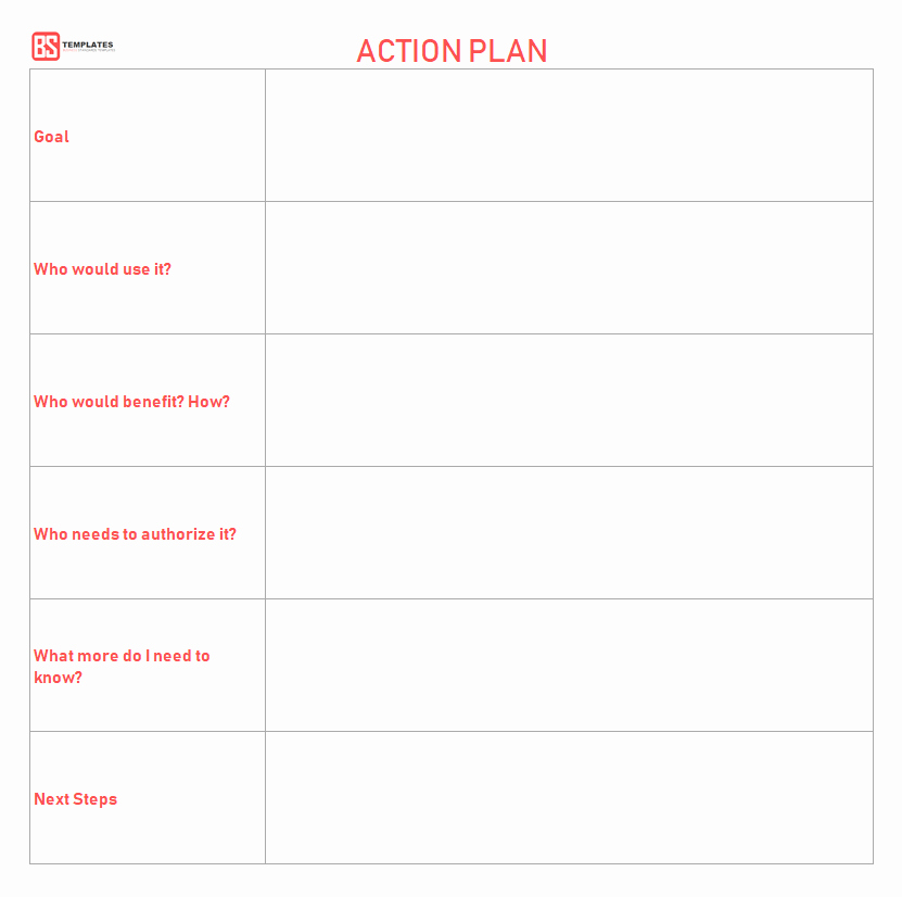 Action Planning Template Excel New Action Plan Templates – Free Templates [word