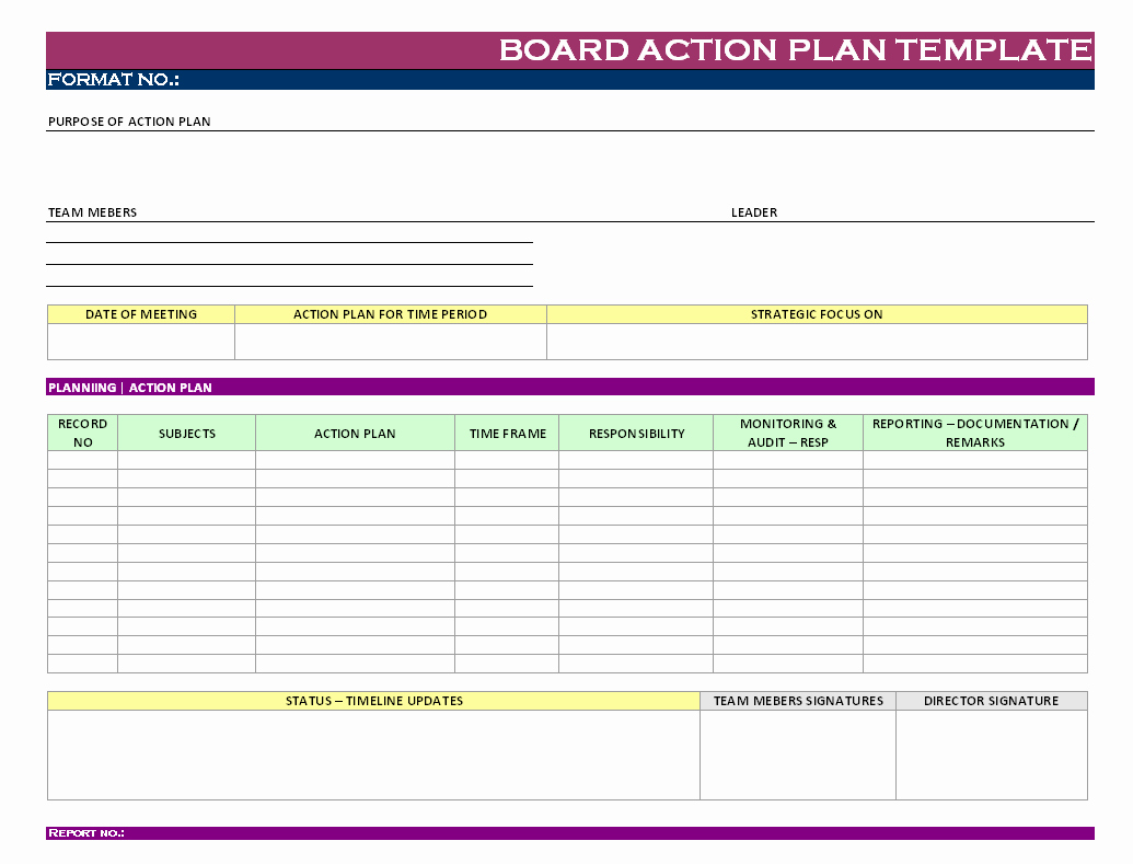 Action Planning Template Excel New Stunning General Action Plan Template Word Examples Thogati