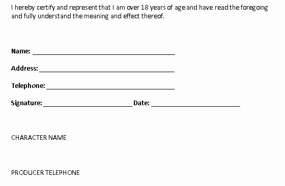 Actor Release form Template Awesome A2 Media Studies Group Work Actor Release form