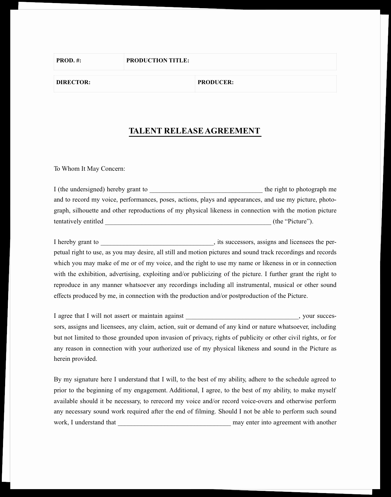 Actor Release form Template Awesome the Plete Guide to Actor Release forms Free Template