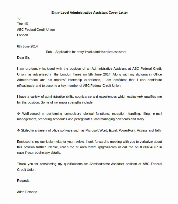 Administrative assistant Cover Letter Template Beautiful 55 Cover Letter Templates Pdf Ms Word Apple Pages