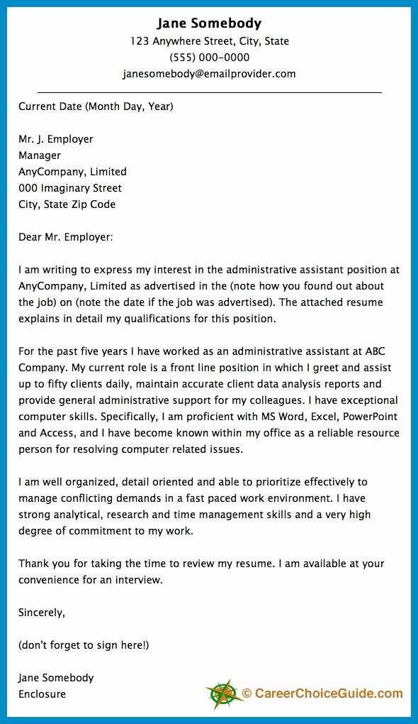 Administrative assistant Cover Letter Template Beautiful Cover Letter Sample