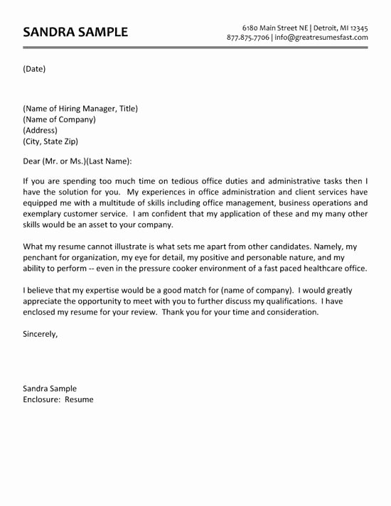 Administrative assistant Cover Letter Template Lovely Administrative assistant Cover Letter