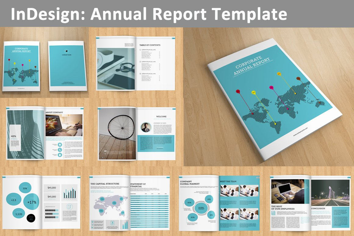 Annual Financial Report Template Beautiful Annual Report V129 Brochure Templates On Creative Market