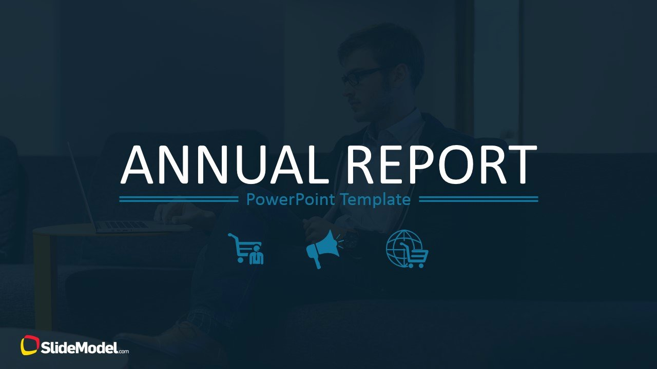 Annual Financial Report Template Inspirational Annual Report Template for Powerpoint Slidemodel