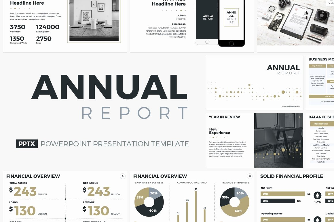Annual Financial Report Template Lovely Annual Report Powerpoint Template Powerpoint Templates