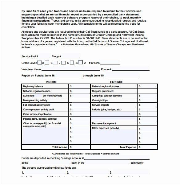 Annual Financial Report Template Unique Sample Financial Report Template 14 Free Documents
