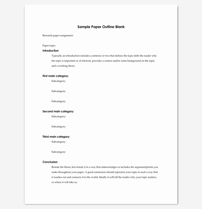 Apa Outline Template Microsoft Word Elegant Research Paper Outline Template 36 Examples formats