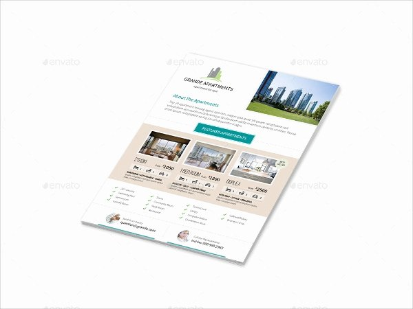 Apartment Flyers Free Templates Beautiful 17 Apartment Flyer Templates Word Ai Psd Eps Vector