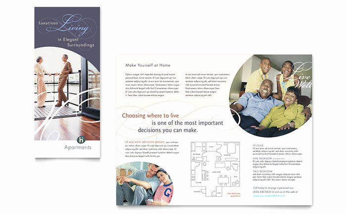 Apartment Flyers Free Templates Beautiful Apartment & Condominium Brochure Template Design