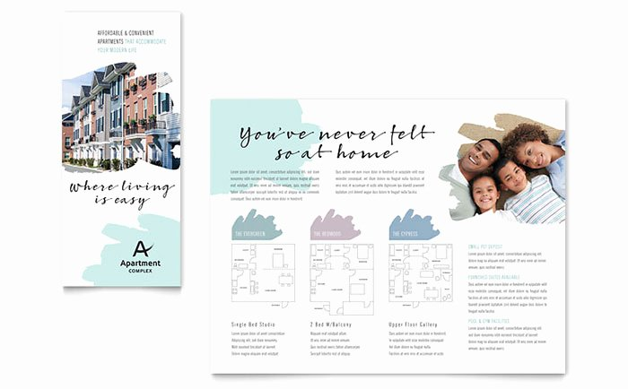 Apartment Flyers Free Templates Fresh Apartment Brochure Template Design