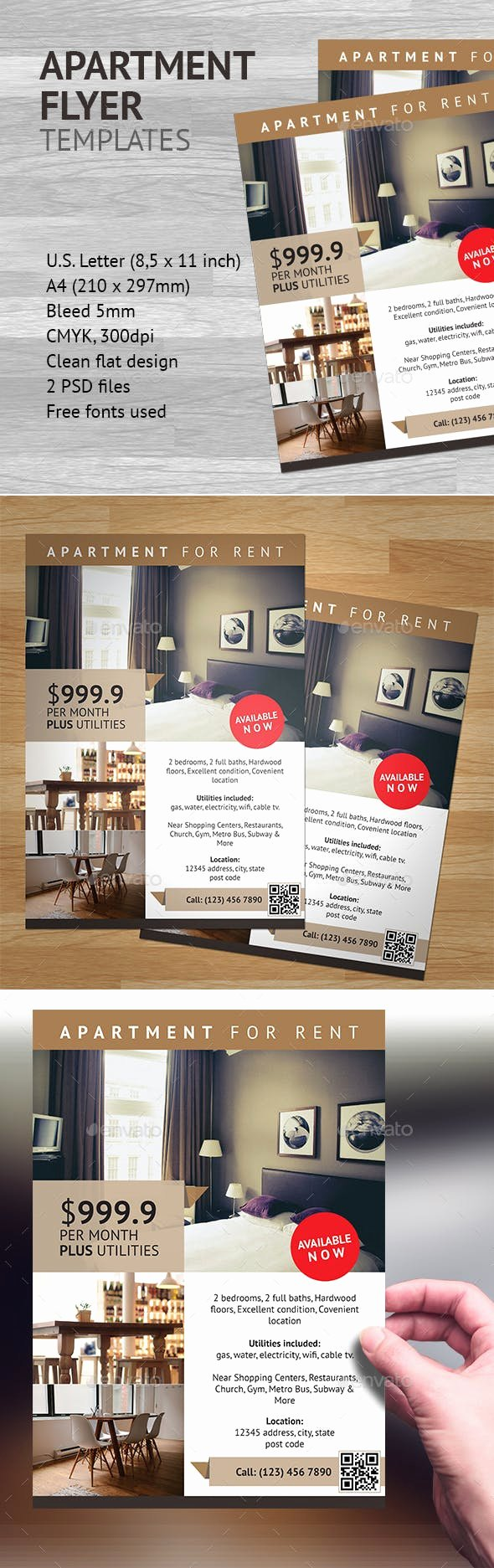 Apartment Flyers Free Templates Lovely Apartment Flyer Template 1 by Heriwibowo