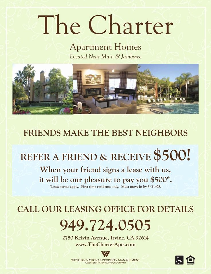 Apartment Flyers Free Templates Luxury Refer A Friend Apartment Flyer