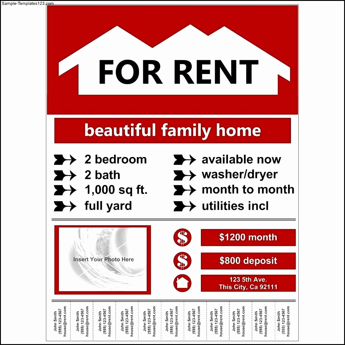 Apartment for Rent Flyer Template Awesome 30 Of Apartments for Rent Advertisement Free
