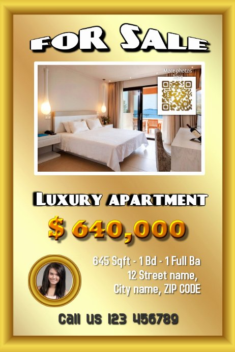 Apartment for Rent Flyer Template Awesome Real Estate Flyer Apartment for Sale Template