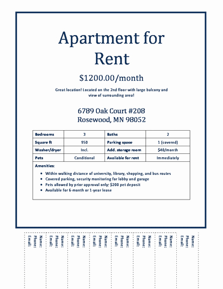 Apartment for Rent Flyer Template Best Of 30 Of Apartments for Rent Advertisement Free