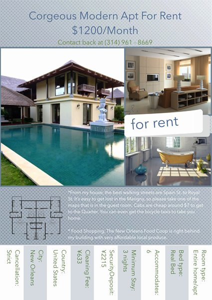 Apartment for Rent Flyer Template Best Of Flyer Templates & Samples