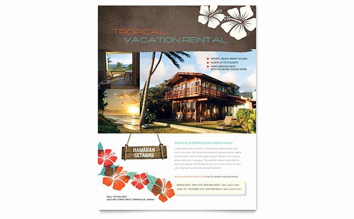 Apartment for Rent Flyer Template Elegant Vacation Rental Flyer Template Design